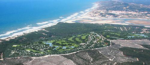 Aerial view of Royal Obidos seen from south