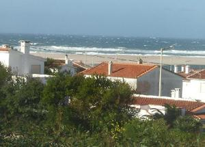 Bom Sucesso view on wintry day of choppy seas from living room window