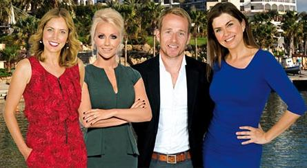 Amanda Lamb, Jasmine Harman, Jonnie Irwin and Laura Hamilton