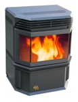 one of the two Eco-Aire pellet burning stoves from Ecoforest
